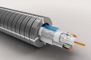 Pre wired Aalto - 25HF-A 2CAT6A U/FTP-COAX Dca R50